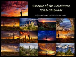 Essence Of The Southwest 2016 Calendar